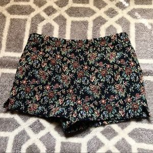 Forever 21 Floral Embroidered Shorts